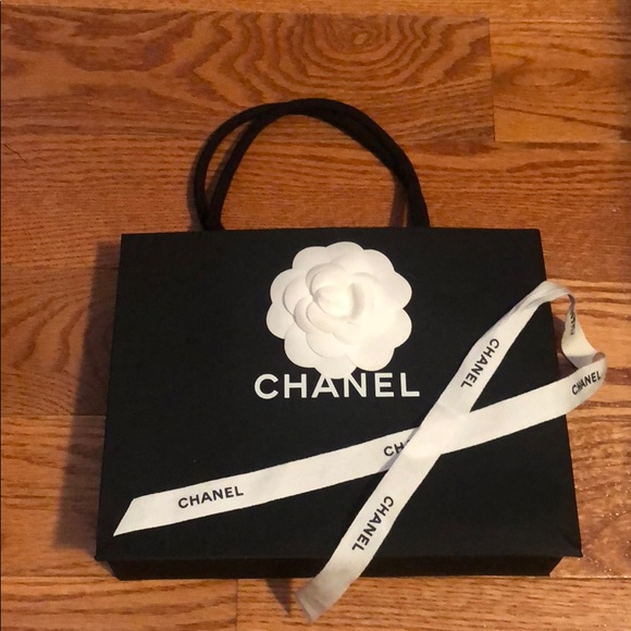 9f475e0aaa0e CHANEL Bags | Paper Bag Flower Ribbon Logo Black Small | Poshmark